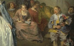 """Antoine Watteau, """"Les Fêtes vénitiennes"""" (1719, détail)."""