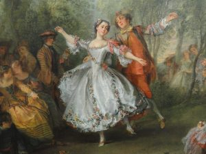 "Nicolas Lancret, ""La danse de la Camargo"" (1729-1730, détail)."
